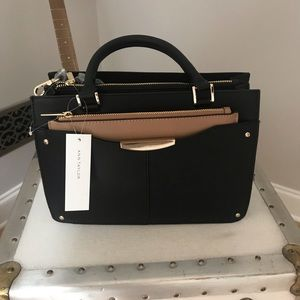 Luxe Black Satchel Bag. Ann Taylor. New with tags